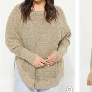 Oatmeal Heather Knit Sweater